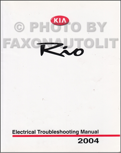 service manual pdf 2004 kia rio electrical. Black Bedroom Furniture Sets. Home Design Ideas