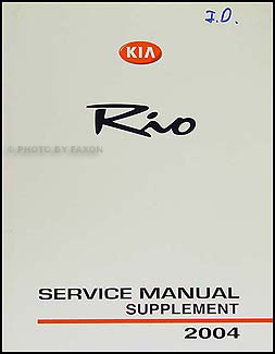 2004KiaRioORMS 2004 kia rio repair shop manual original supplement 2001 Kia Sportage Wiring-Diagram at gsmx.co