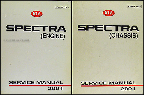 2004KiaSpectraORMSet 2004 kia spectra repair shop manual original 2 vol set 2001 Kia Sportage Wiring-Diagram at gsmx.co