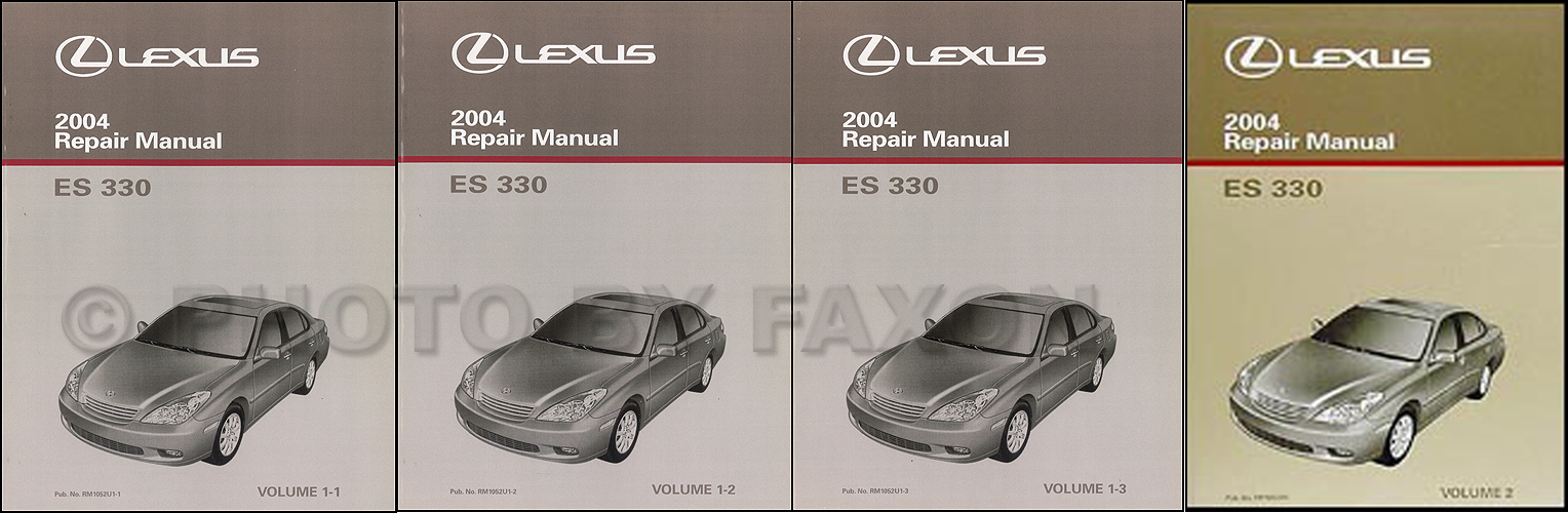2004 lexus es 330 repair shop manual original set 2006 Lexus ES 300 2004 lexus es 330 repair manual original 2 volume set