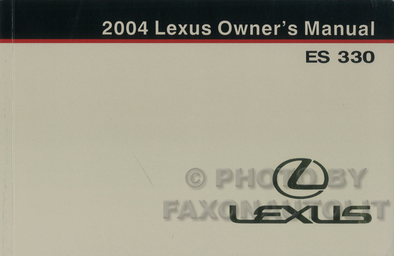 2004 lexus es 330 navigation system owners manual original. Black Bedroom Furniture Sets. Home Design Ideas