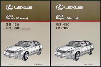 Search 2004 lexus gs 300 and gs 430 repair manual original 2 volume set sciox Gallery