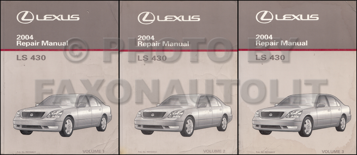 2004 lexus ls 430 repair shop manual original 3 volume set rh faxonautoliterature com 2001 lexus ls430 repair manual 2001 Lexus LS430 Parts