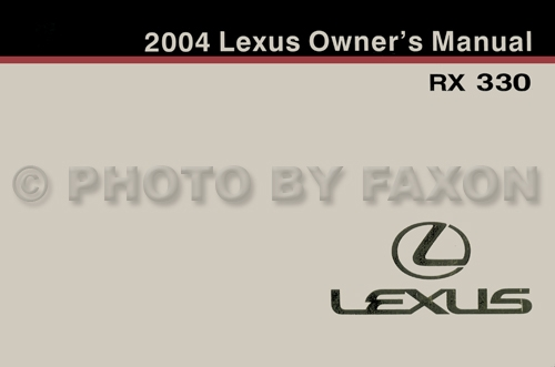 2004 lexus rx 330 wiring diagram manual original 2004 lexus rx 330 owners manual original