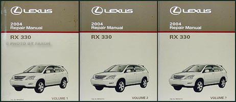 2004 lexus rx 330 repair shop manual original 3 volume set Lexus RX330 Recall 2004 lexus rx 330 repair manual original 3 volume set Lexus RX330 Maintenance Schedule