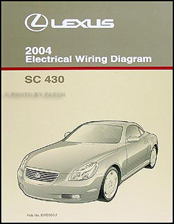 lexus sc430 service manuals shop owner maintenance and repair 2004 lexus sc 430 wiring diagram manual original