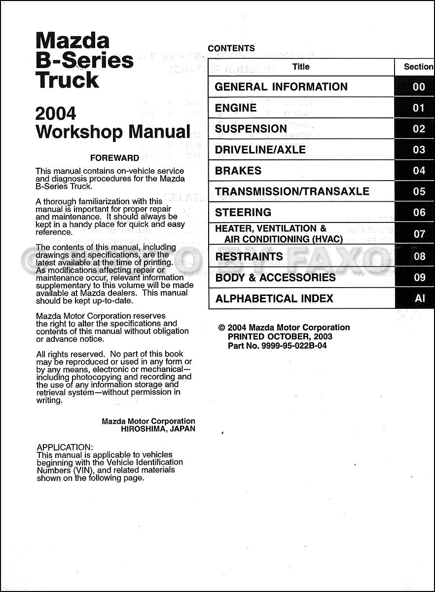 mazda b2300 owner s manual book db