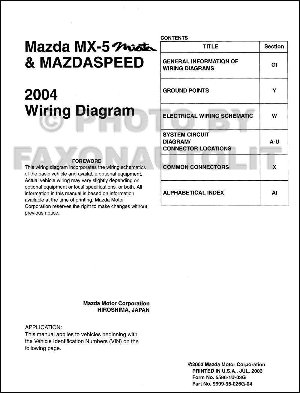 2004 miata radio wiring diagrams 1994 miata radio wiring diagram 2004 mazda mx-5 miata mazdaspeed wiring diagram manual ... #3