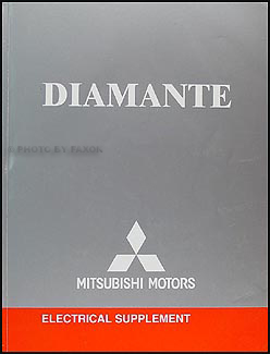 2004 mitsubishi diamante wiring diagram repair shop manual original rh faxonautoliterature com 2006 Mitsubishi Diamante 1997 Mitsubishi Diamante