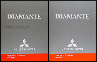 mitsubishi diamante wiring diagram repair shop manual original 2004 mitsubishi diamante repair shop manual set original 2 volume set