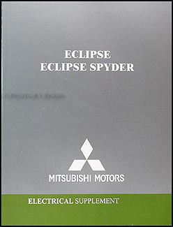 2004 Mitsubishi Eclipse & Spyder Wiring Diagram Manual Original