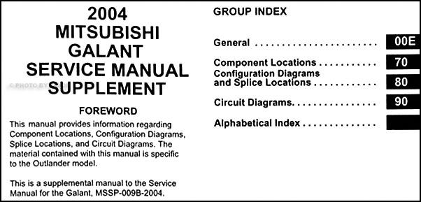 2004 Mitsubishi Galant Wiring Diagram Manual Original