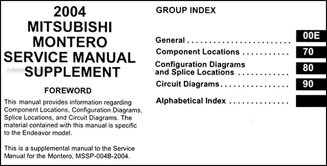 2004 mitsubishi montero wiring diagram manual original 2004 mitsubishi montero wiring diagram manual original table of contents asfbconference2016 Gallery