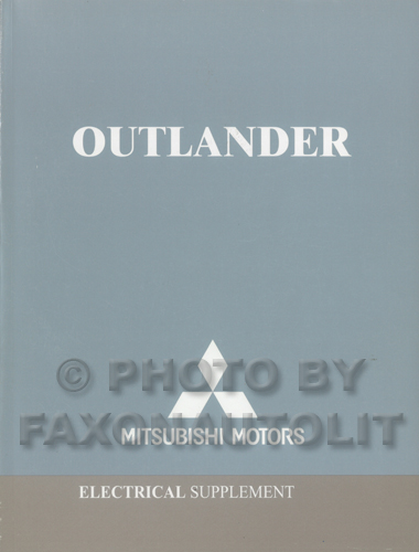 2004 Mitsubishi Outlander Wiring Diagram Manual Original