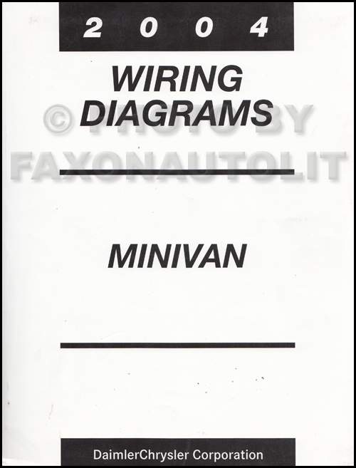 2004 Chrysler Dodge Minivan Wiring Diagram Manual Original Caravan ...