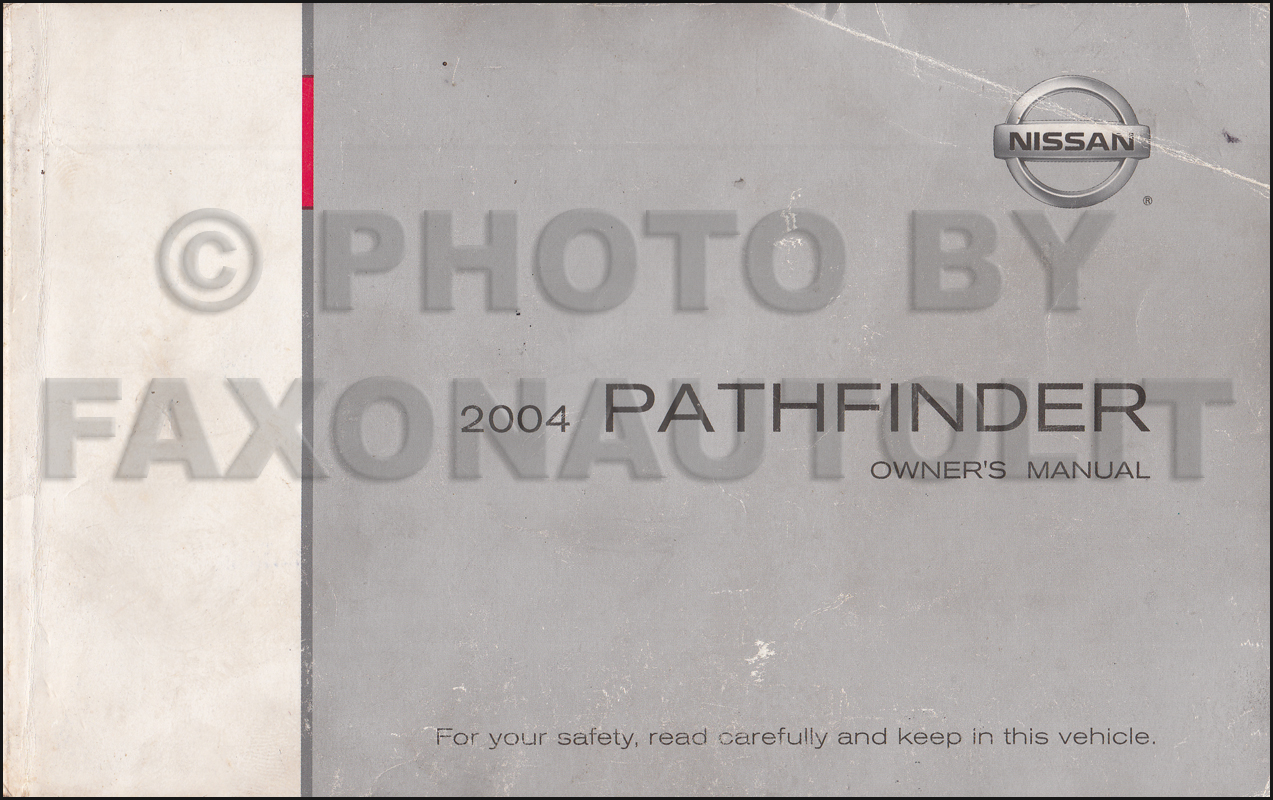 2004 Nissan Pathfinder Owner's Manual Original. 2005 Nissan Maxima CD-ROM  Repair Manual
