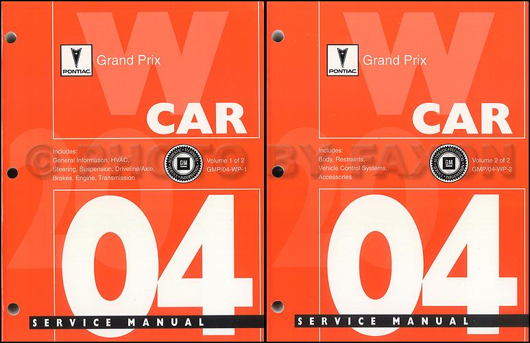 2004 pontiac grand prix repair shop manual original 2 volume set rh faxonautoliterature com 2004 pontiac grand prix gt repair manual 2004 pontiac grand am repair manual free