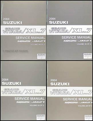 2004 suzuki grand vitara & xl-7 repair shop manual 4 volume set