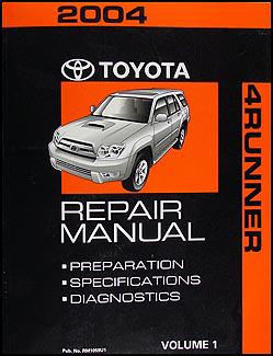 2004 toyota 4runner repair diagnosis manual volume 1 only original rh faxonautoliterature com 2004 toyota 4runner repair manual 2004 4runner service manual pdf