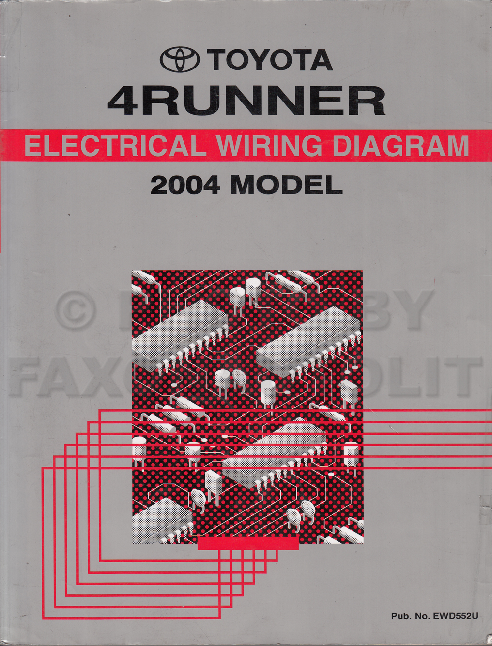 2004 Toyota 4runner Wiring Diagram Manual Original