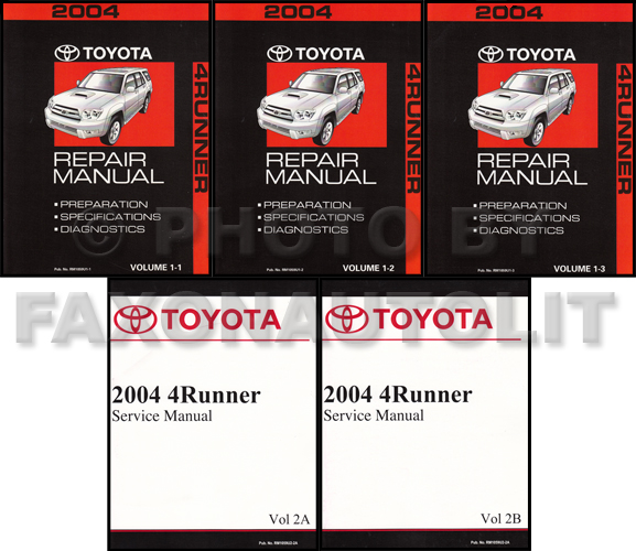 2004 toyota 4runner repair manual set rh faxonautoliterature com 2004 toyota 4runner repair manual free 2002 Toyota 4Runner