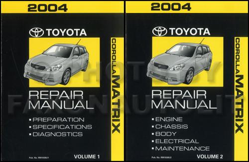 2004 toyota matrix repair shop manual original 2 volume set rh faxonautoliterature com 2003 Toyota Matrix Fuse Diagram 2004 toyota matrix service manual pdf