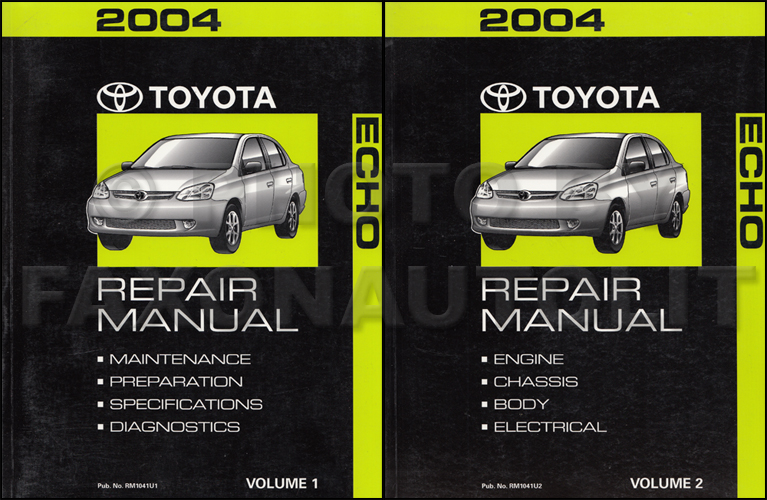 2004 toyota echo repair shop manual original 2 volume set rh faxonautoliterature com echo service manual echo shop manual