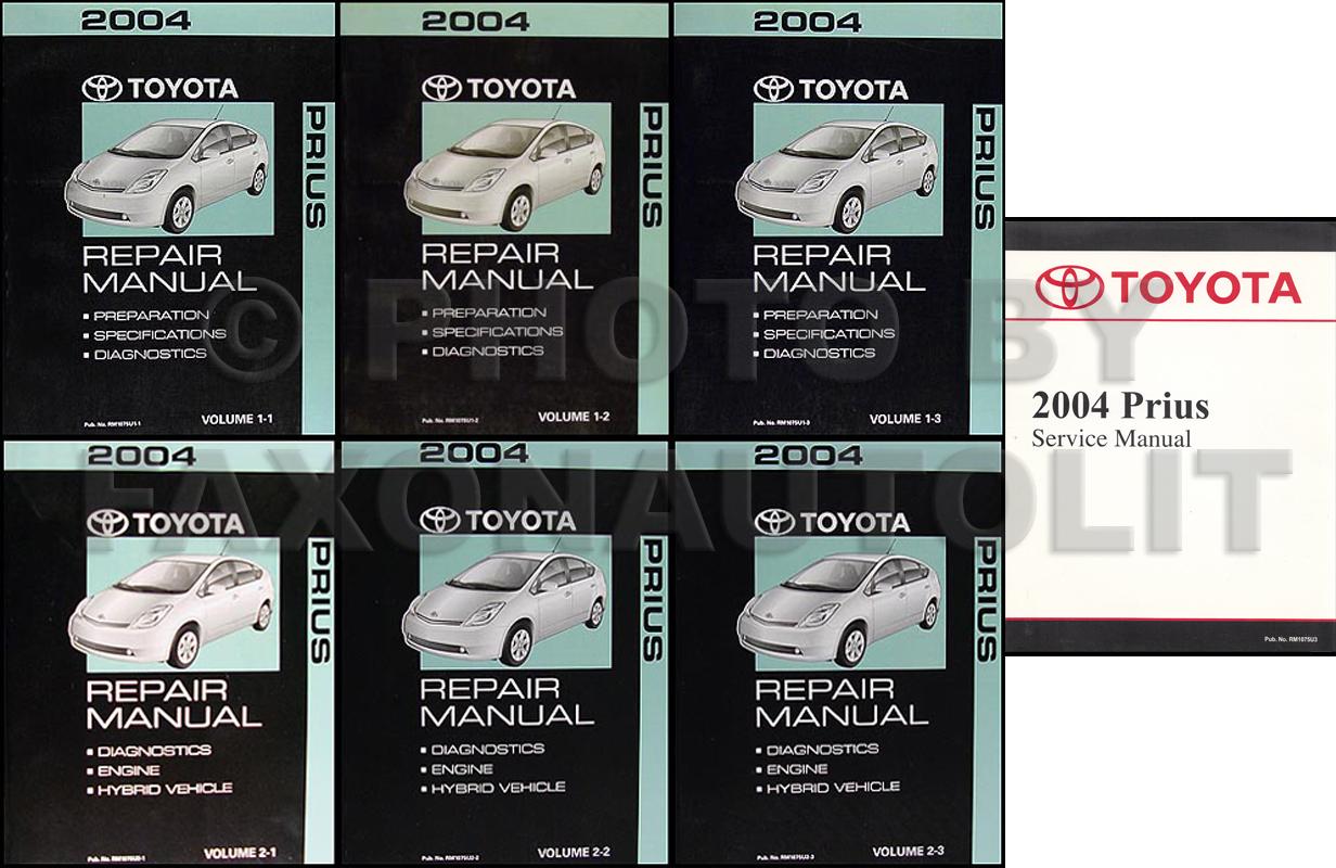 2004 toyota prius 3 volume set repair shop manual rh faxonautoliterature com 2007 Toyota Prius Toyota Prius Interior