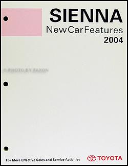 2004 Toyota Sienna Wiring Diagram Manual Original
