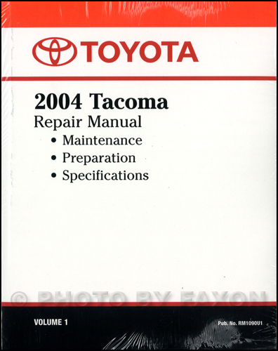 2004 toyota tacoma repair shop manual original volume 1 only rh faxonautoliterature com 2006 toyota tacoma shop manual 2007 toyota tacoma shop manual