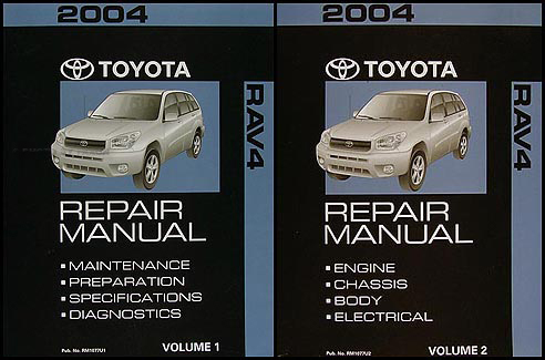 2004 toyota rav4 repair shop manual 2 volume set original rh faxonautoliterature com 2004 rav4 workshop manual 2015 Toyota RAV4