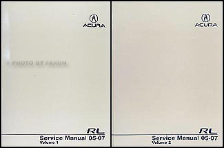 2005 Acura on 2005 2007 Acura Rl Repair Shop Manual Original 2 Volume Set