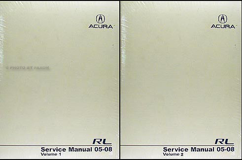 2005-2008 Acura RL Shop Manual Original 2 Volume Set