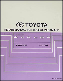 2005 toyota avalon wiring diagram manual original 2005 2009 toyota avalon body collision repair shop manual original