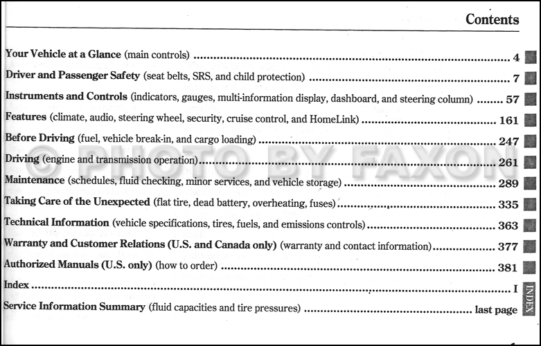 Acura RL Owners Manual Factory Reprint - 2005 acura rl maintenance schedule