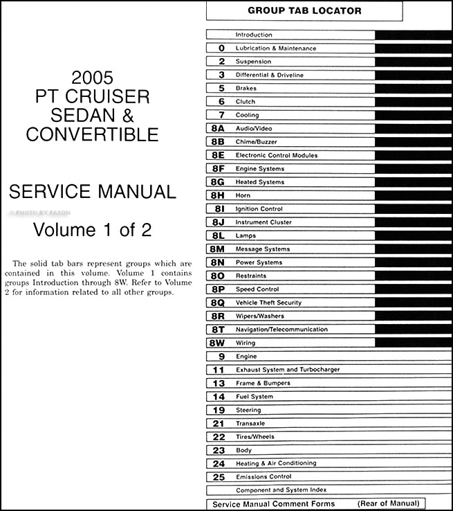 2005 chrysler pt cruiser repair shop manual original 2