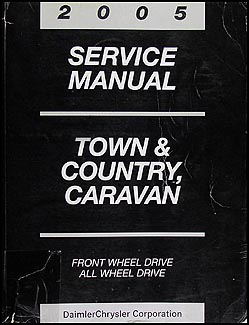 2005 chysler town country and dodge caravan wiring diagram related items