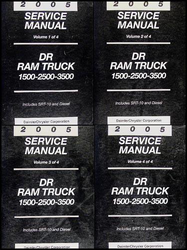 2005 dodge ram truck repair shop manual 4 vol set original 1500 rh faxonautoliterature com 2005 Dodge Ram Fuel Wiring Diagram Dodge Ram Trailer Wiring Diagram