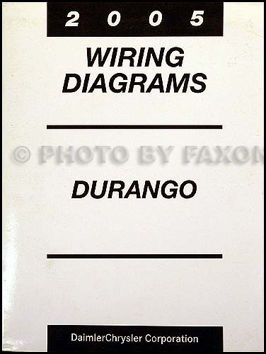 2005 Dodge Durango Wiring Diagram Manual Original