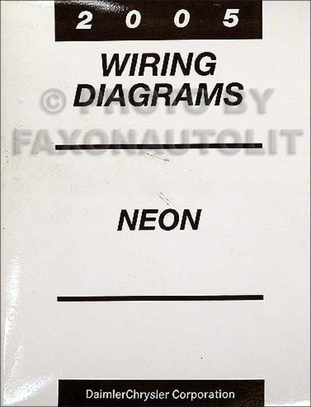 2005 Dodge Neon Wiring Diagram : Dodge neon wiring diagram manual original