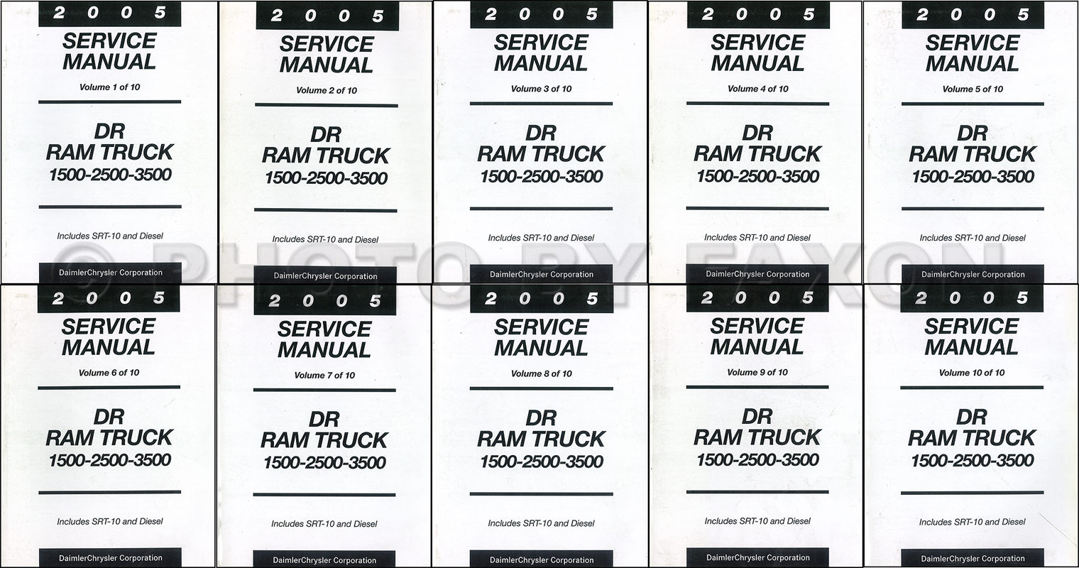 2005 dodge ram truck repair shop manual 10 vol set factory reprint rh faxonautoliterature com 2007 dodge ram 2500 repair manual 2007 dodge ram repair manual