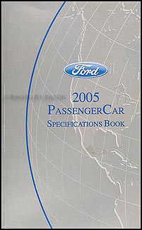 2005 Ford Lincoln Mercury Service Specifications Book Original