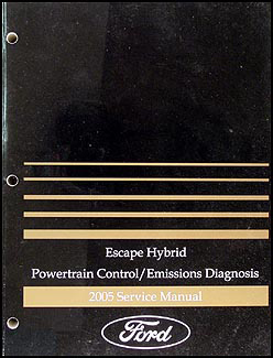 2005 Ford Escape Hybrid Engine and    Emissions       Diagnosis       Manual    with Trouble Codes   eBay