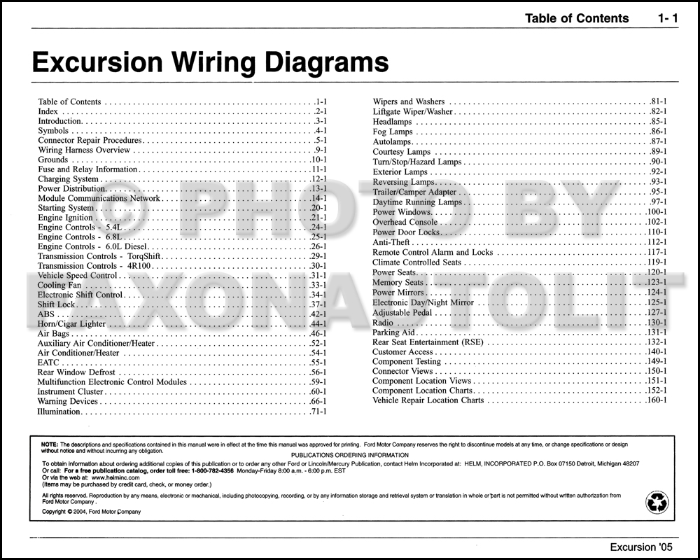 2005 Ford Excursion Wiring Diagram Manual