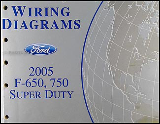 2005 Ford F650-F750 Medium Truck Wiring Diagram Manual Original
