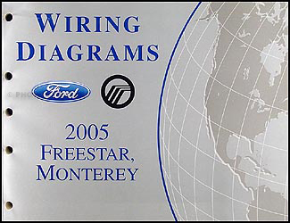 2005 ford freestar mercury monterey wiring diagram manual original rh faxonautoliterature com 2005 ford freestyle alternator wiring diagram 2005 Ford Freestar Wiring-Diagram