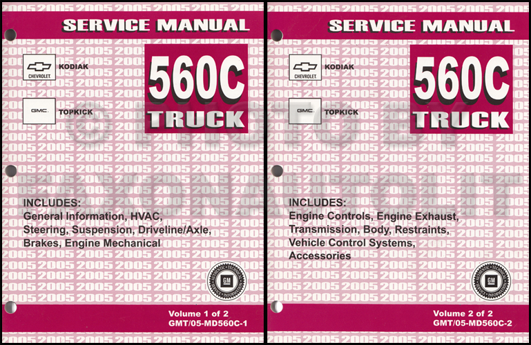 2005 Gmc Topkick Chevy Kodiak Repair Shop Manual Original 2 Volume Rhfaxonautoliterature: C8500 Topkick Wiring Diagram At Gmaili.net