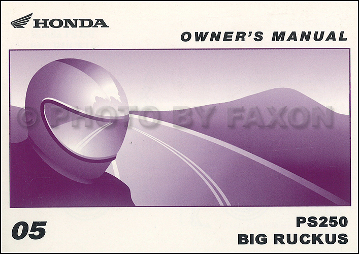 2005 Honda Big Ruckus Scooter Owner's Manual Original