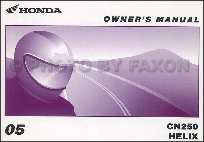 1987 honda cn250 helix scooter owners manual.