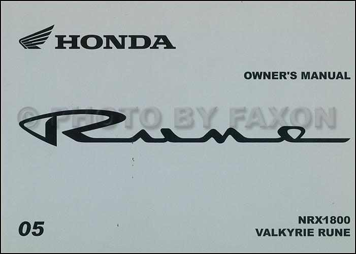 2005 honda rune motorcycle owner s manual original nrx1800 valkyrie rh faxonautoliterature com honda valkyrie service manual free download 2014 honda valkyrie owners manual
